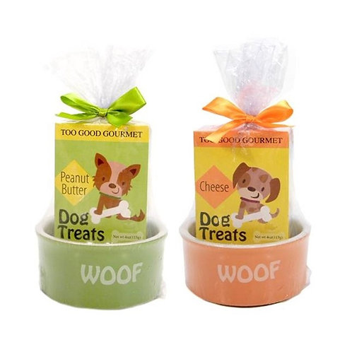 Dog Bowl Treat Set