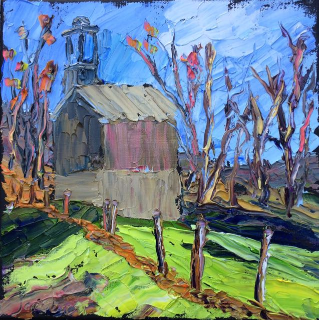 10-27 painting XX egg hill church
