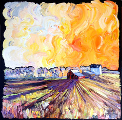 58.150412 fiery sunset 30x30