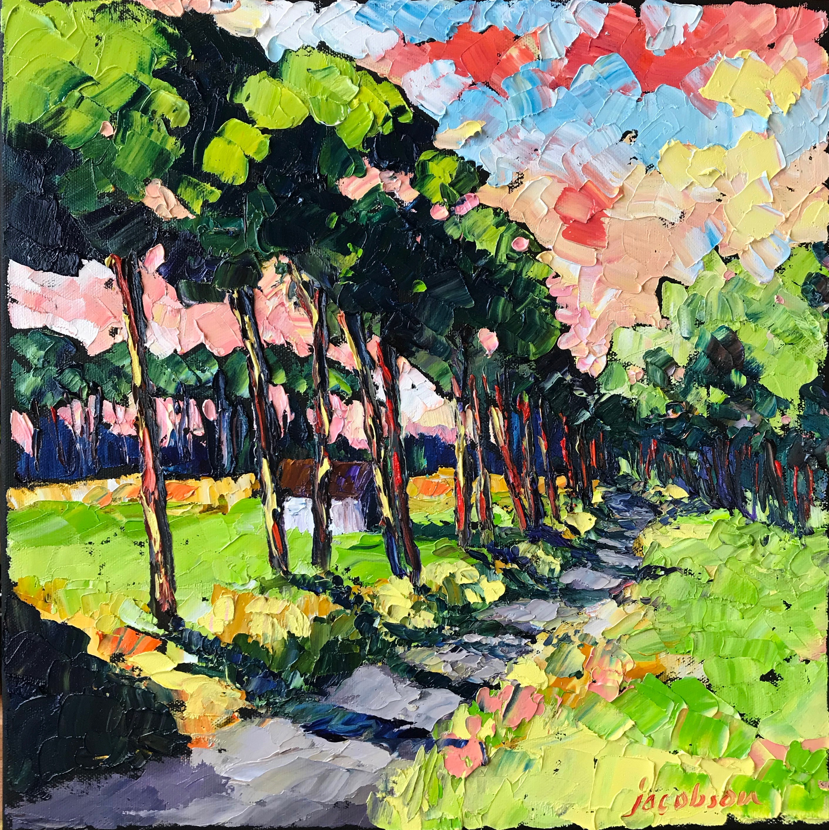 190903 Taking the Back Road Home 14x14