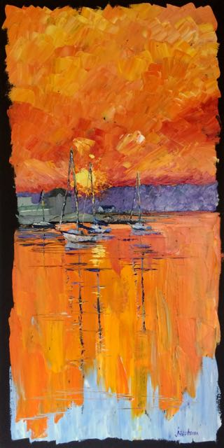 46. 160722 mystic sunset 18x36