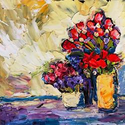 190224 red flowers 3 vases 6x6