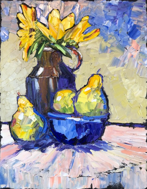 Pears and Sunflowers 3