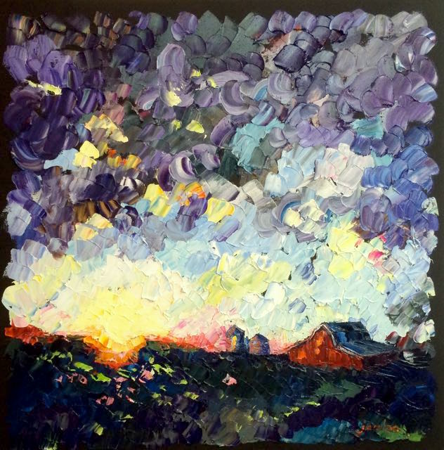 40. 160708 farm sunset 20x20