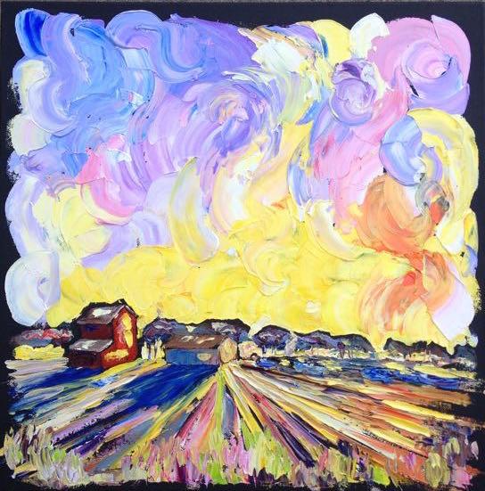 67.150421 evening farm 16x16