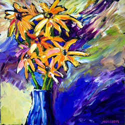190213 brown eyed susans 14x14