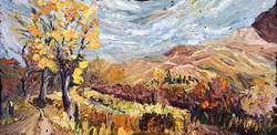 10-24 montana autumn stream 18x36