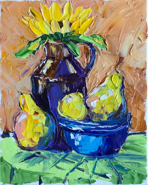 Pears and Sunflowers 2
