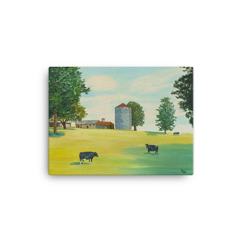 "12x16 ""Silo"" Sunshine on Pastural Existence."