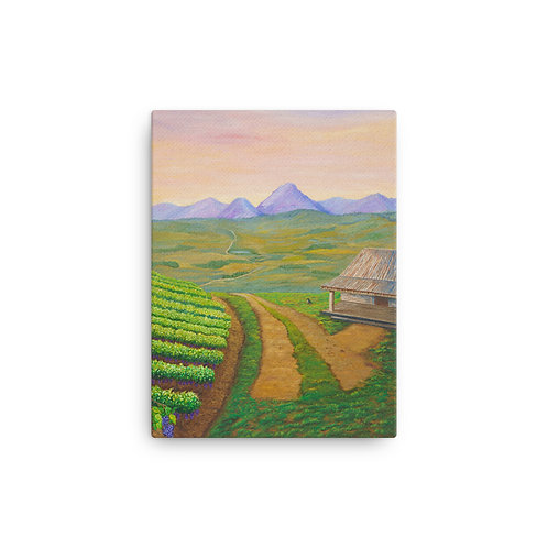 """12X16 """"View From A French Vineyard"""""""