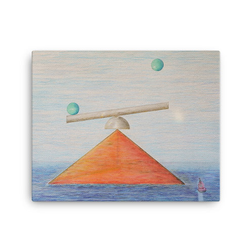 "16x20 ""Tetrahedron Rising"""