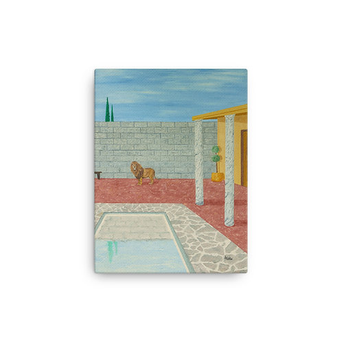 """12X16 """"Courtyard With Lion"""""""