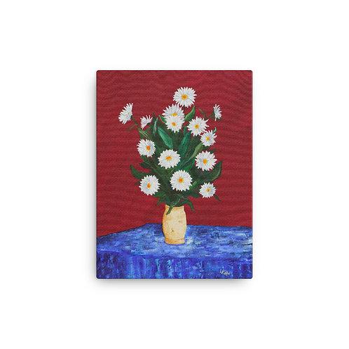 """12x16 """"Vase of Daisies"""""""