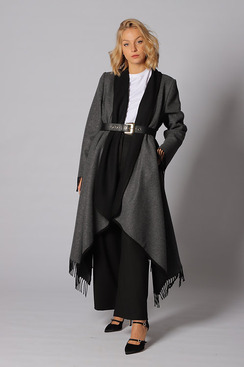 Cappotto con cinta