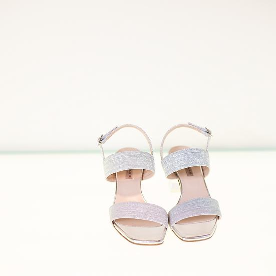 Albano - Sandalo argento glitter