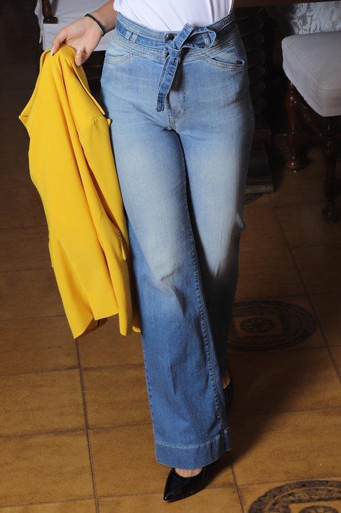 Jeans con fiocco