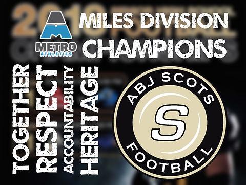 2018 Miles Div City Champions