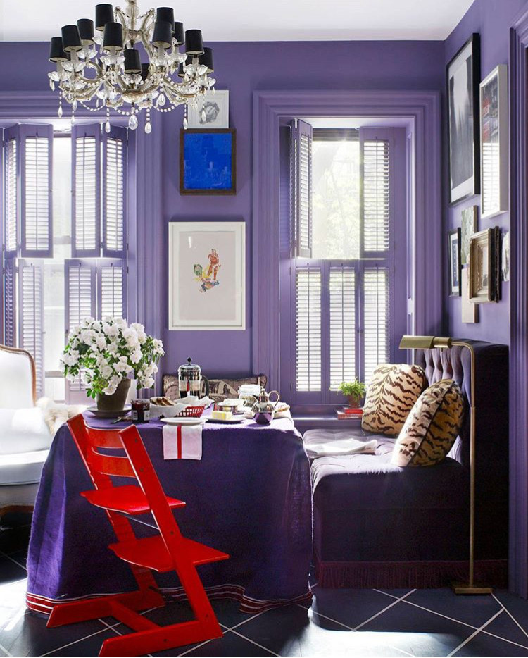 How to Decorate with 2018 Pantone Color of the Year: Ultra Violet
