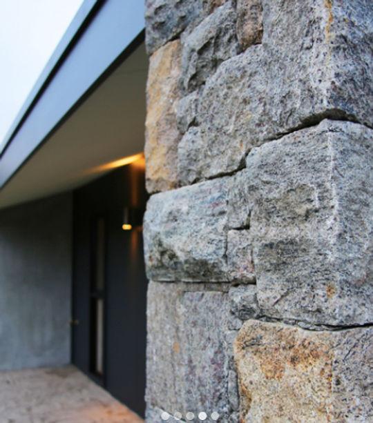 Ashlar Dry Laid Granite Wall