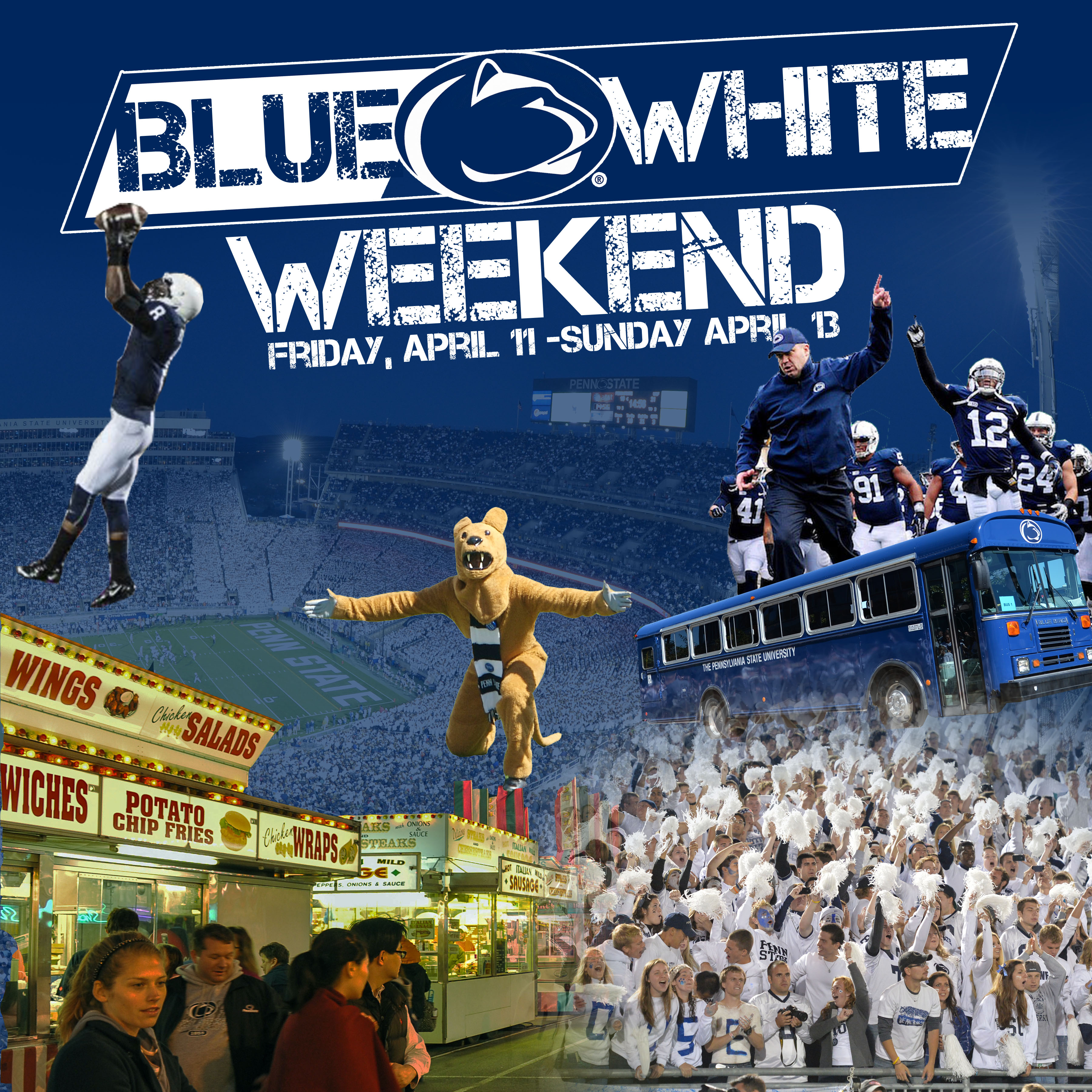 Blue White Weekend Flyer