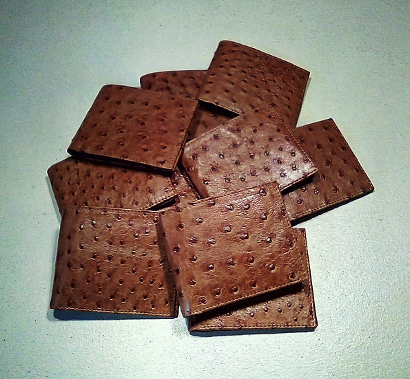 Ostrich Leather Mens Wallets
