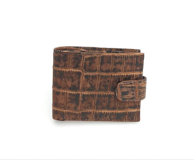 Safari Tan Men's Bifold coin and card wallet.