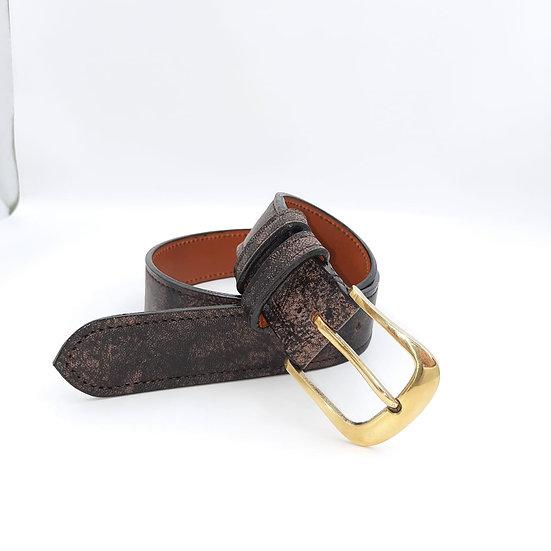 42mm New Buckle Handstitched Solid Brass Wildebeest Belt