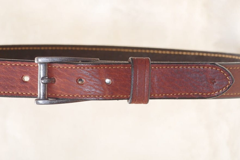 Tan Cowhide 40mmwide belt in brown