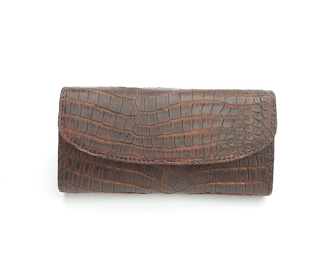 Our Clutch Nile Crocodile Belly purse.