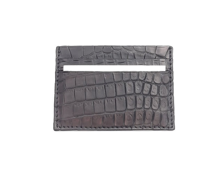Pocket card Holder in Nile Crocodile.