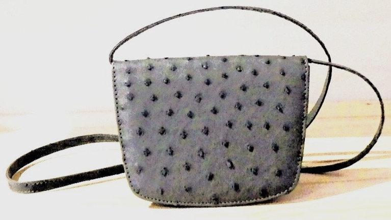 Ostrich Leather Ladies Sling-over Shoulder Bag
