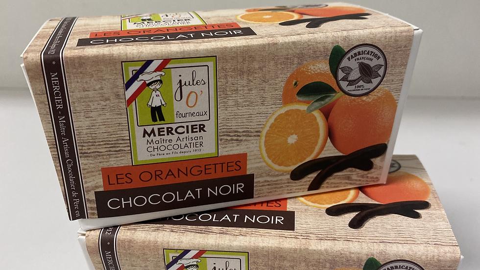 Orangettes au chocolat noir