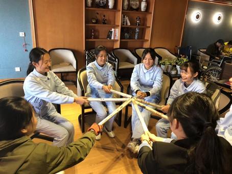 中国江蘇省寧波市介護産業視察、日本式介護初任者研修指導