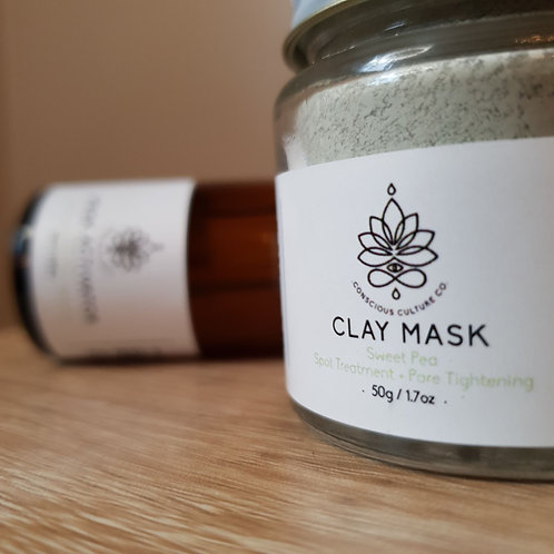 Sweet Pea - Green French Clay + Chamomile Activator