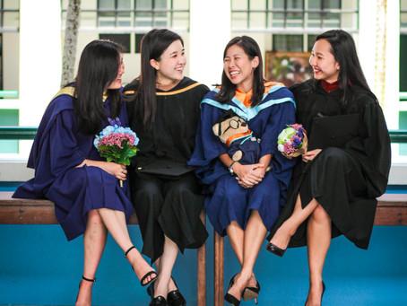 Graduation back at Raffles Girls School