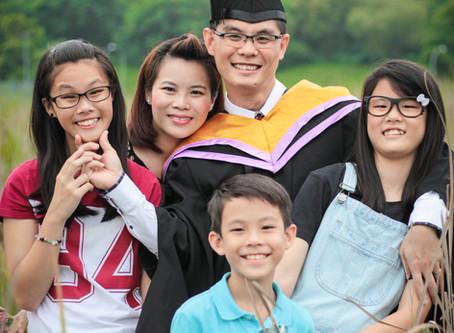 NTU MBA'S Graduation Family Photoshoot
