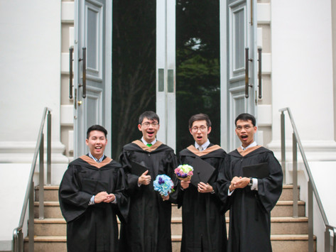A boyband graduation shoot