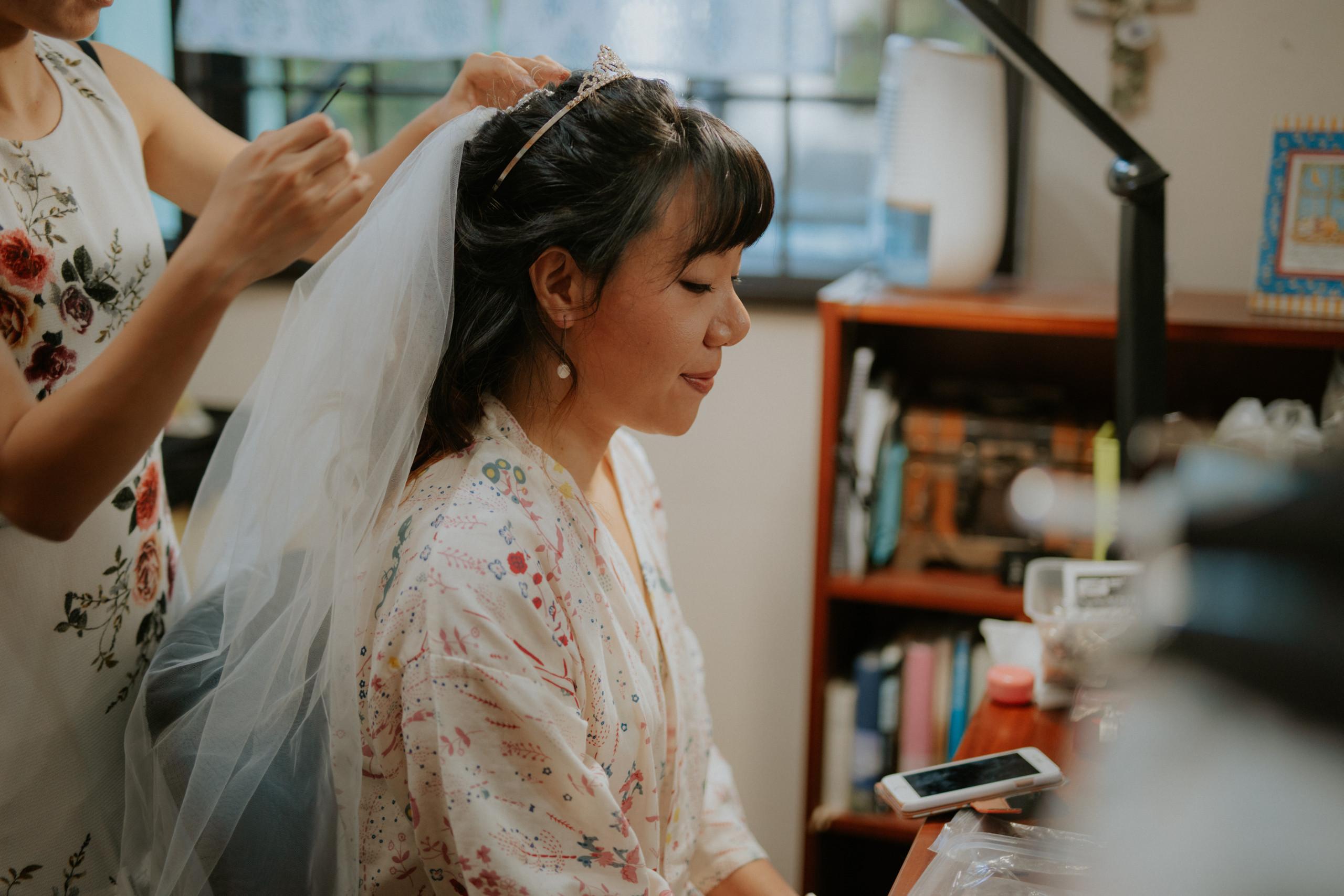 Zealyn looking calm on her wedding day.