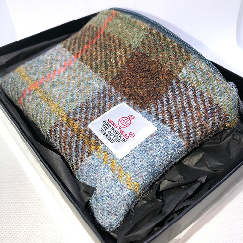 Blue,Green, Red and Yellow Harris Tweed Purse