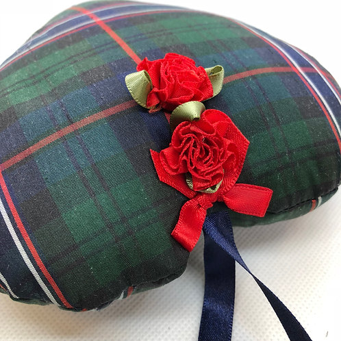 Hanging tartan silk ornament