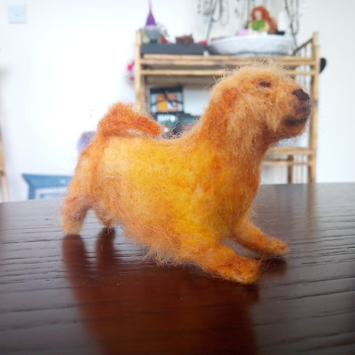 Needle Felted Terrier Dog