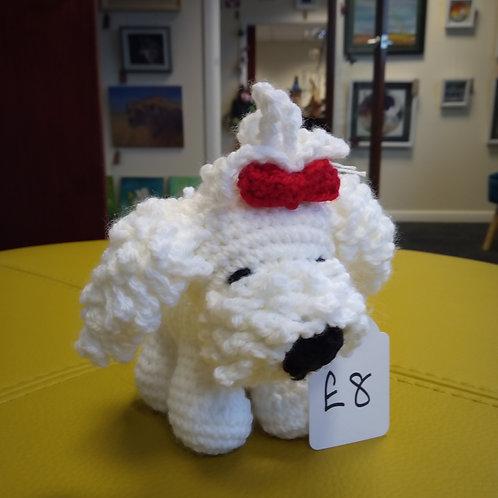 Amigurumi White Maltese Dog