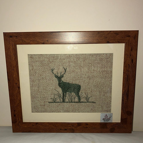 """Green Stag"" on Harris Tweed by the Ridleys"