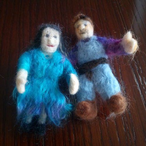 Needle felted Man and Woman