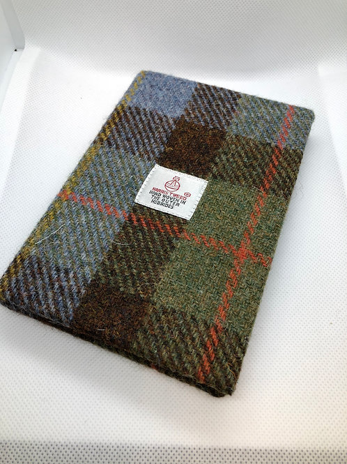 Blue,Green and Red Harris Tweed Notebook