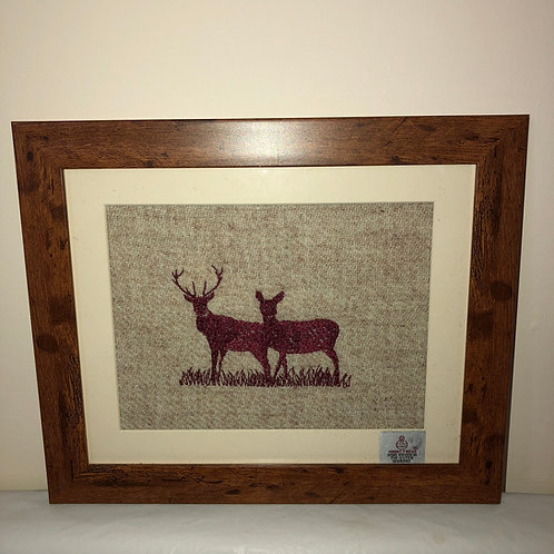 """Red Stag and Hind on Harris Tweed"" by the Ridleys"