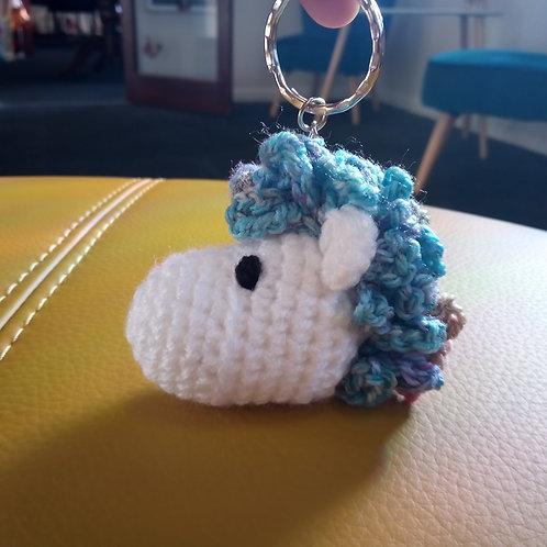 Unicorn Crochet Keyring