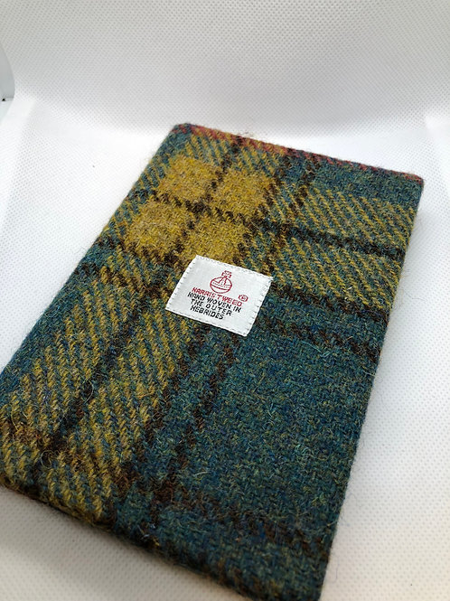 Blue,Green, Red and Yellow Harris Tweed Notebook