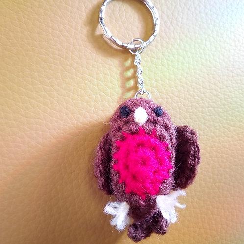 Robin Crochet Keyring