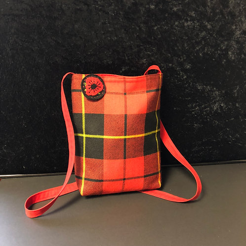 Tartan Evening Bag (red)